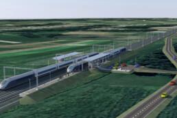 3D model nove železniške postaje