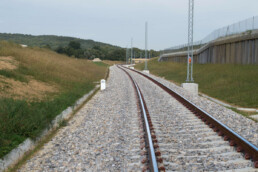 Railway line in Pavlovci; km 3+300