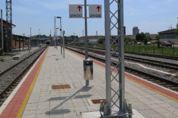 Design of platforms and train stops