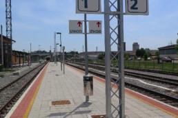 Station platform in Ljutomer